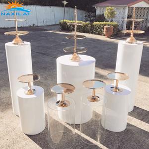 NAXILAI Acrylic Plinths Display Stand Round Wedding Acrylic Plinth Solid Acrylic Pedestal