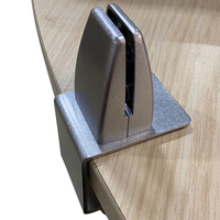 Factory Wholesale Most Popular C Shape Anti-spray Partition Glass Clamp Holder Furniture Accessories