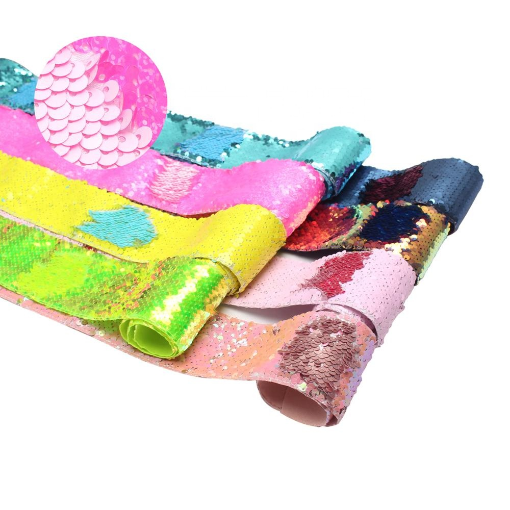 25 Yards Per Roll Summer Colorful Reversible Sequins Personalized Midi Sequin Ribbon 75mm фото