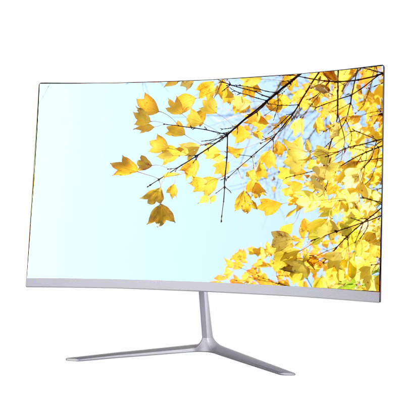 Commercio all'ingrosso LCD Del Computer Monitor LED 24 pollici di superficie curva 75hz led schermo del computer monitor