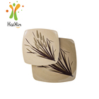 Good heat insulation effect rice husk party plates set for restaurant and home size L