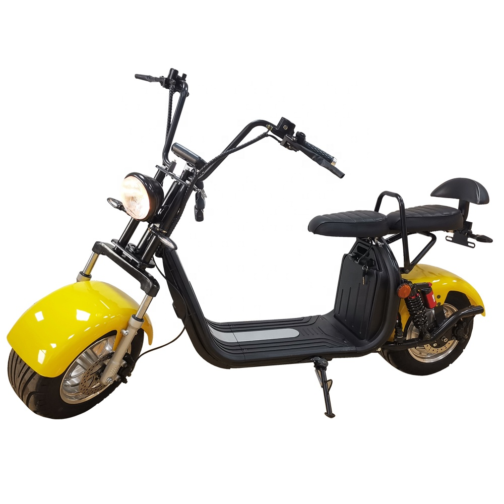 EEC/COC/CE 2000W with double seat in stock EU warehouse electric fat tire tricycle and citycoco bluetooth battery electric bike