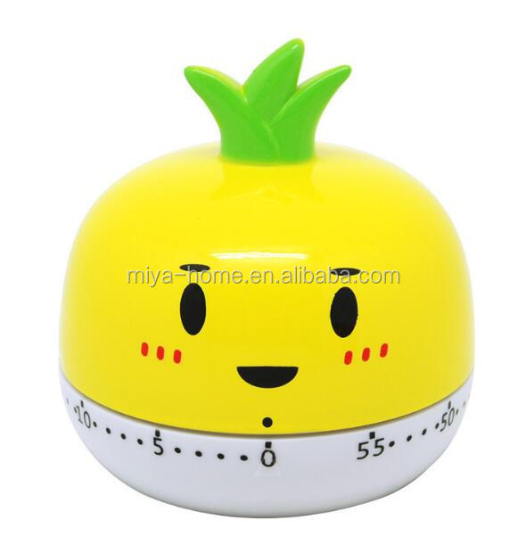 Kitchen Cooking Timer Clock / Plastic Cartoon Time-Meter / Cute Fruits Vegetable Timer