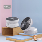 Fan With Fan With Led QZ-008 QBILL CE ROHS 6 Inches USB Foldable Battery Air Circulating Fan With LED Light Portable