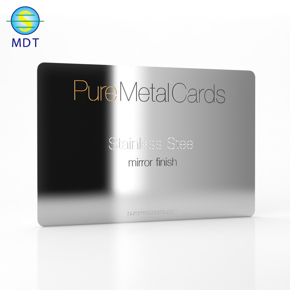 Mdt O  credit cards size hot sale stainless steel  Metal business cards  PROMOTION