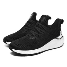 2019 Wholesale 새 Design Lace-업 black 과 white 망 Sports Casual Sneaker Shoes