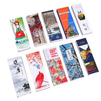 Custom design paper bookmark,bulk cheap bookmarks with customized paper packaging box printing as demand
