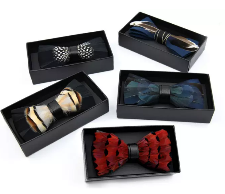 Men's Bow Ties Adjustable Pre-tied bowties for Boys Man  in Gift Box