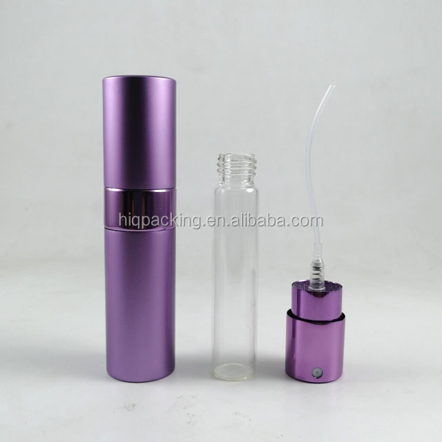 10 ml metal refill atomizer aluminium twist 15ml bottles