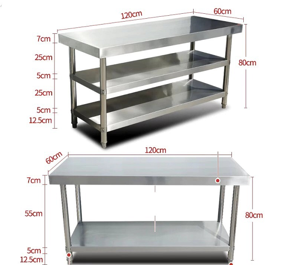 Hotel Kitchen Service Stainless Steel Solid Working Table Bench Kitchen Work Table  for sale
