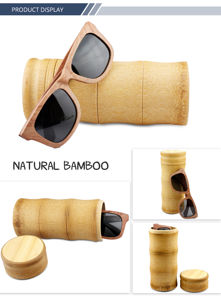 Private label your logo sunglasses case wood glasses box custom bamboo boxes