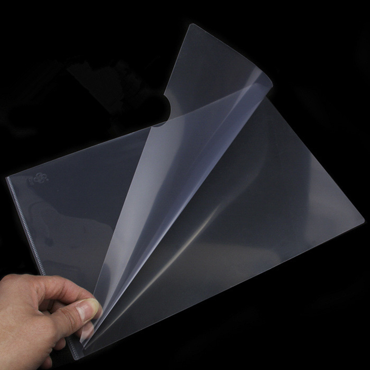 china high quality  pp sheet protector l shape folder