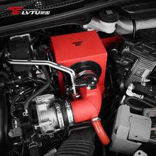Prestaties Rood Aluminium Mushroom Air Intake <span class=keywords><strong>Filter</strong></span> Kit Voor Honda Fit GK5 Motor Airconditioning Systeem