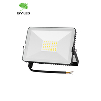 Ultra slim led flood lights 50watt mini led spot light modern design square outdoor IP65 100 watt