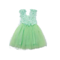 Summer Korean version of the new children girl dress hook flower vest gauze skirt