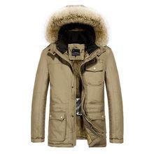 Dr. Qiiwi мужская хлопковая одежда с подогревом куртка среднего возраста повседневное пальто с подогревом для осени и зимы Термоодежда()
