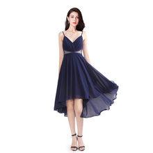 It's Yiiya платье для выпускного бала без рукавов с v-образным вырезом и открытой спиной шифоновое платье на бретельках Vestidos De Gala C472 размера плюс ...(Китай)