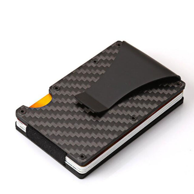 High Quality Aluminum Carbon Fiber Card RFID Blocking <strong>Wallets</strong> with Money Clip