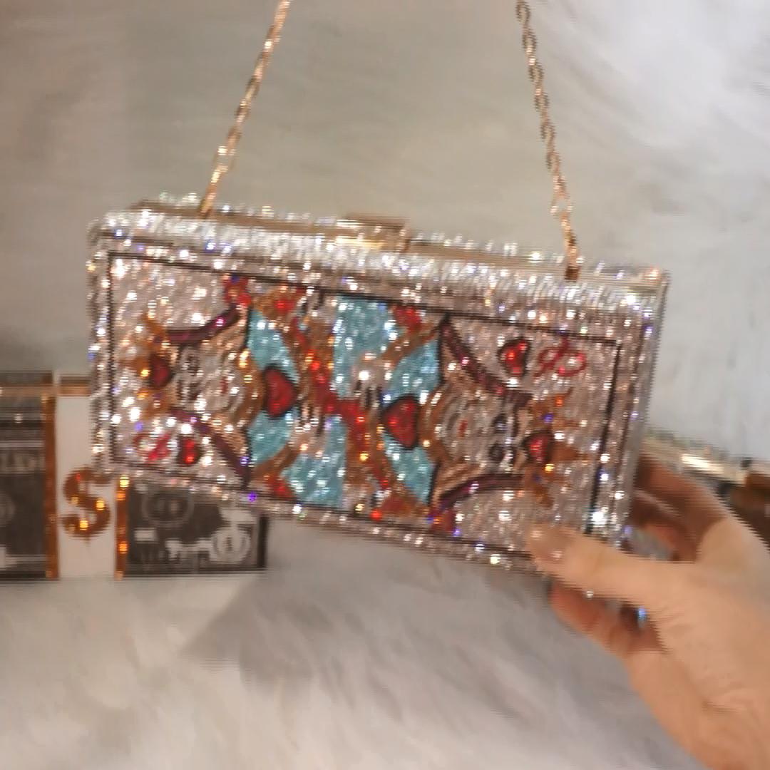 2021 Fashion women crossbody shoulder bags luxury shiny purse evening bag party lady purse and handbags rhinestone bag