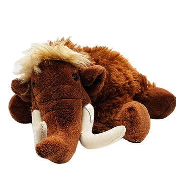Custom standing stuffed plush brown elephant Real animal stuffed Mammoth plush animal toy soft kids toys
