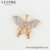 36021 Luxury high quality Butterfly 18k gold plated fashion custom pendant with out necklace