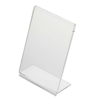 Acrylic Custom Poster Menu Table Top L- type Brochure Display Holder