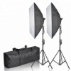 Portable Photography Lighting Kit With Carry Case For Studio
