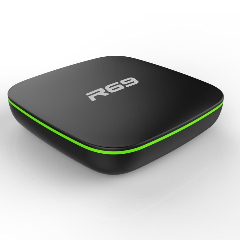 Фабрика android ТВ коробка приемник R69 Allwinner H3 1 Гб 8 android 7,1 умные телевизоры коробка 4 к r69