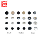 Plating Snap Metal Button Garment Tape Wholesale Copper Double Cap Fasteners Metal Button Snaps For Shirt