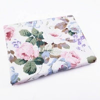 Quaint-colored Rosebuds Bedding Fabric 100% Cotton Twill Printed Fabric for Bedding and Sofa Covers