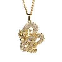 Direct wholesale costume jewelry china dragon necklace hiphop jewelry