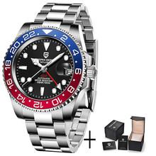 PAGANI DESIGN 2020 роскошные мужские механические наручные часы из нержавеющей стали GMT часы лучший бренд сапфировое стекло Мужские часы reloj hombre(Китай)