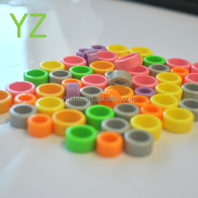 YZ factory <strong>produced</strong> COLORFUL thickened blank spot plastic ring pigeon ring pigeon products <strong>Chicken</strong> ring size6mm-18mm