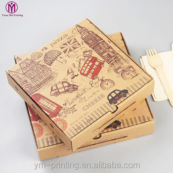 wholesale high Quality eco-friendly recyclable take away china food packaging design hot box for pizza delivery
