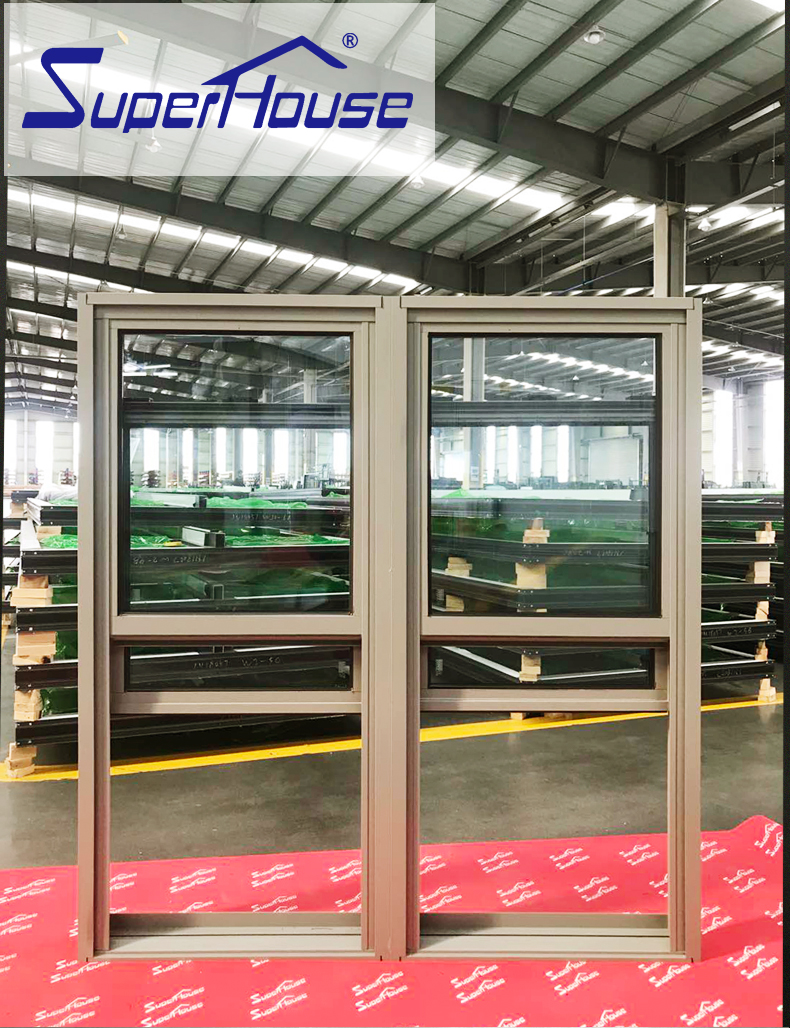 AAMA standard aluminum vertical sliding glass double hung window