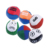 Mini leather logo printed crocheted knitted rugby soccer kick ball toy