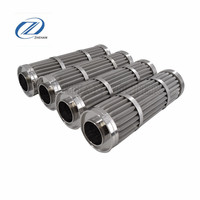304 316 316l stainless steel pleated mesh filter elements, fuel engine hydraulic valve filter element