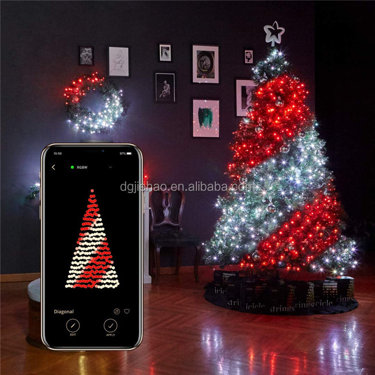 Led String Lights Outdoor Indoor Twinkle Lights Color Changing Fairy String Lights wifi Music RBG