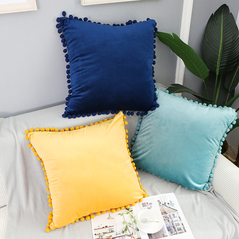 wholesale velvet sofa seat cushion covers decorative