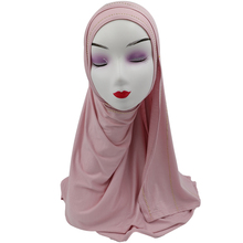<span class=keywords><strong>Belle</strong></span> Couleur Unie foulard Musulman <span class=keywords><strong>hijab</strong></span> Pour Ladiles Porter
