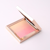 Private Label Face Makeup Blush Cheek Rouge Minerals Pressed Powder Blusher With Blusher Packaging