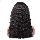 Modern Show Water Wave Lace Frontal Wig Pre Plucked Highlight Color Brazilian Remy Color 1B Lace Front Human Hair Wigs