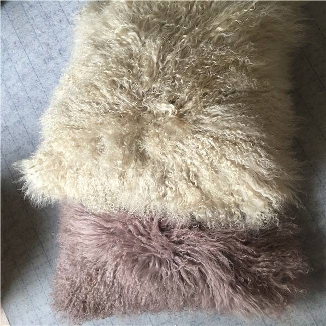 Long hair curly fur home pillow