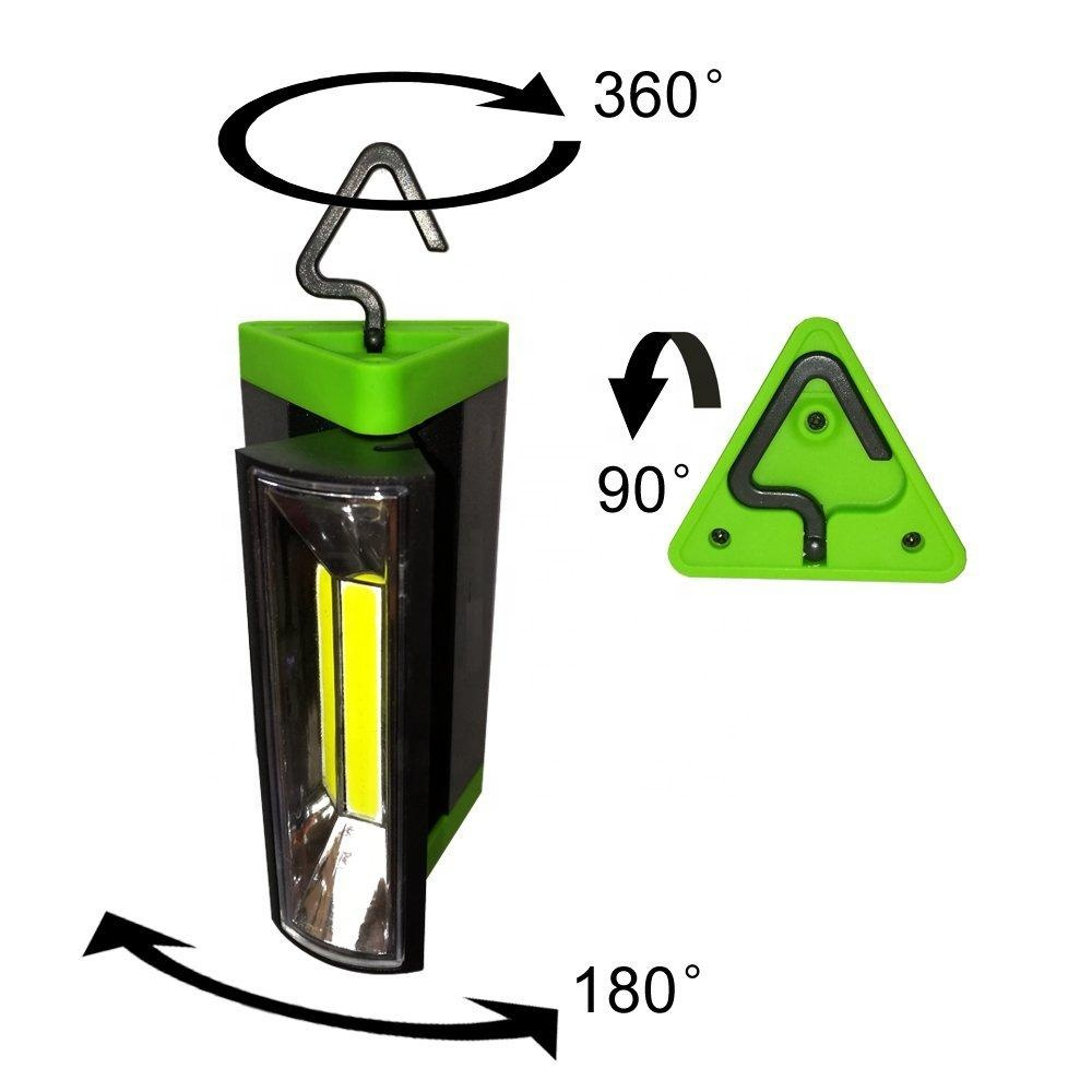 Portable 200 Lumens Multi-use COB light Magnetic Base & Hanging Hook 5000K Daylight LED Work Light for Outdoor Camping