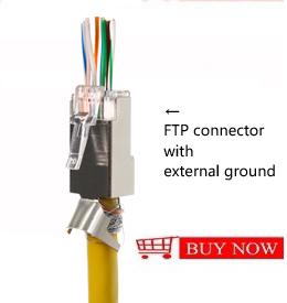 Ethernet RJ45 Vượt Qua Thông Qua Modular Cắm Nối Cat5e Cat6 EZ RJ45 Kết Nối