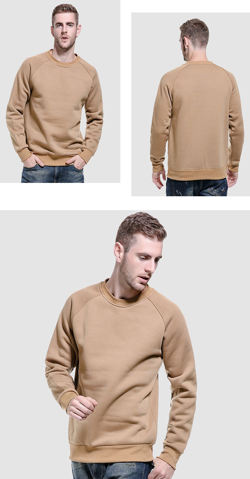 Drop Shipping Private Label High Street Stylish Style Plus Size Plain Crewneck Sweatshirt