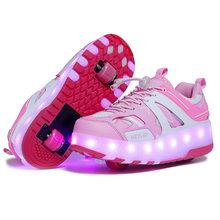 B & G светодиодный светильник, обувь для бега, детская обувь для скейтбординга, Мужская Нескользящая прогулочная обувь, дышащие женские кросс...(Китай)