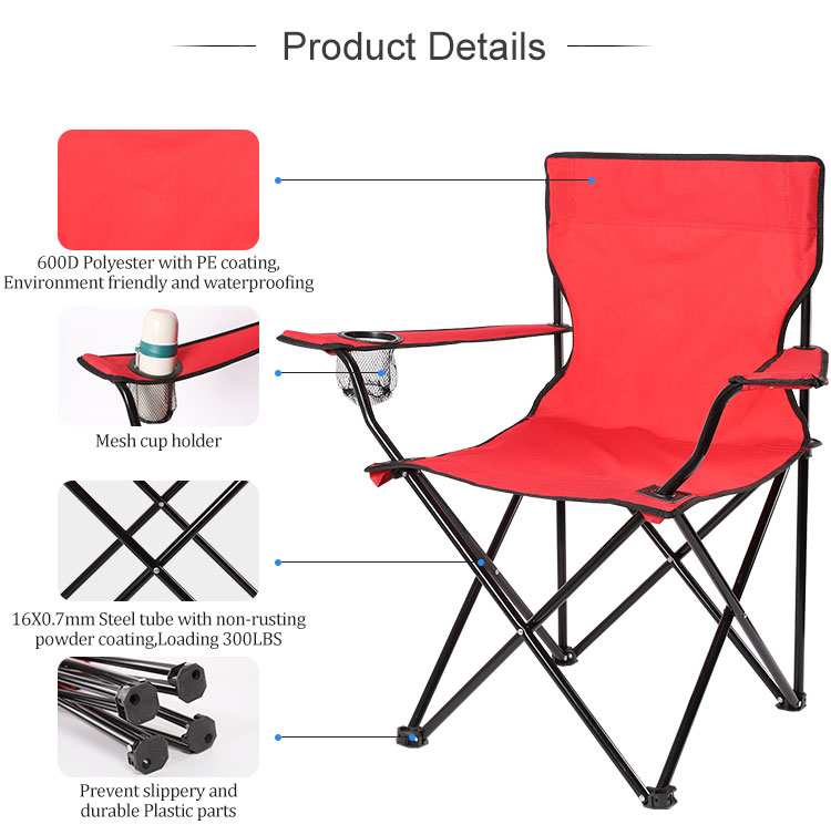 portable folding camping fishing chair for fishing