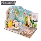 Lovely design assembly wooden toy doll house latest gift items