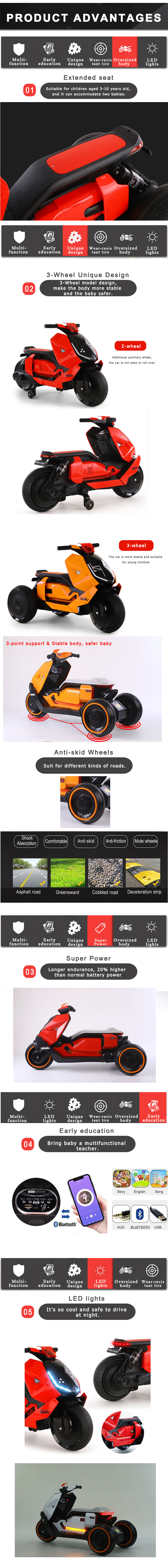 2020 Factory Hot Selling Mini Motorcycle Kids Ride on Toy Motorbike for Kids